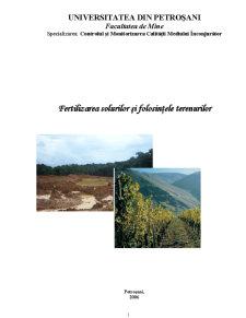 Fertilizarea Solurilor și Folosințele Terenurilor - Pagina 1