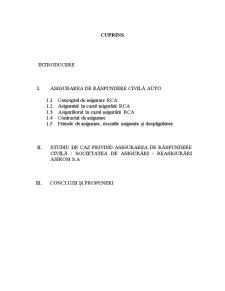 Asigurarea de Răspundere Civilă Auto - Pagina 1