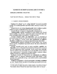 Elemente de Drept și Legislație Economică - Pagina 1