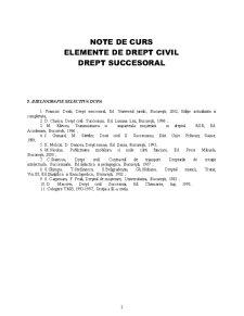 Elemente de Drept Succesoral - Pagina 1