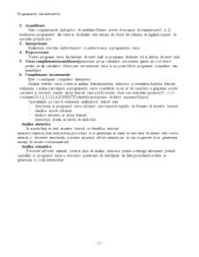 Consideratii Generale privind Lexicul, Sintaxa si Semantica unui Limbaj de Programare - Pagina 2