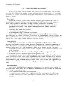 Evolutia Limbajului de Programare - Pagina 1