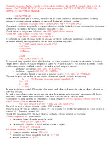 Continutul Economic, Functia Contabila si Corespondenta Conturilor din Clasa 1 - Pagina 1