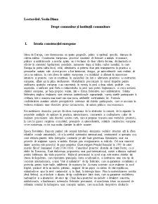 Drept Comunitar și Instituții Comunitare - Pagina 1