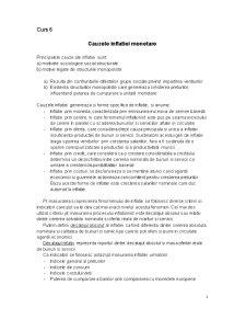 Cauzele Inflatiei Monetare - Consecinte - Deflatia Monetara - Pagina 1