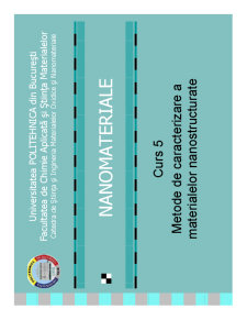 Metode de Caracterizare a Materialelor Nanostructurate - Pagina 1