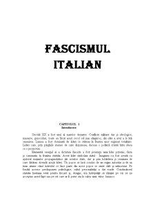 Fascismul Italian - Pagina 1