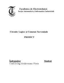 Circuite Logice și Comenzi Secvențiale - Pagina 1