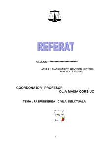 Răspunderea Civilă Delictuală - Pagina 1