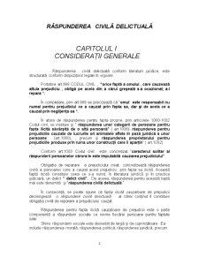 Răspunderea Civilă Delictuală - Pagina 2