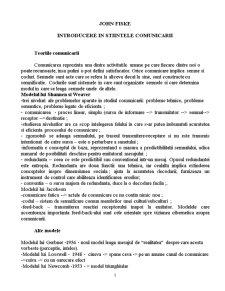 Introducere in Stiintele Comunicarii - Pagina 1