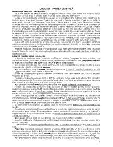Obligații - Partea Generală - Pagina 1