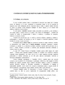 Controlul Intern și Dezvoltarea Întreprinderii - Pagina 1