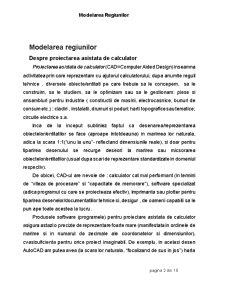 Modelarea Regiunilor - Proiectare Asista de Calculator - AutoCad - Pagina 2