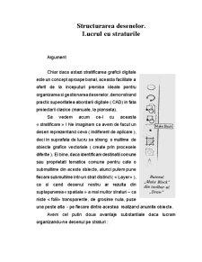 Structurarea Desenelor - Lucrul cu Straturile - Pagina 1