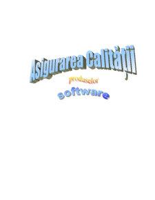 Produse Software - Asigurarea Calitatii - Pagina 1