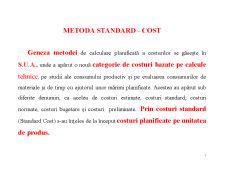 Metoda Standard - Cost - Pagina 1