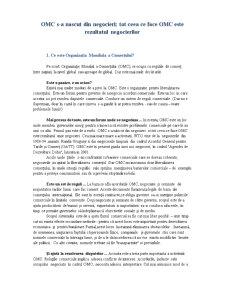 Organizatia Mondiala a Comertului - Capitolul 1 - Pagina 2