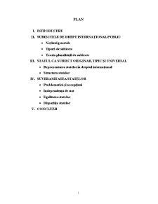 Statul - Izvor de Drept International Public - Pagina 1