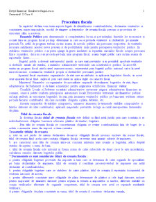Drept Financiar - Procedura Fiscala - Pagina 1