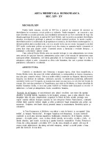 Arta Medievala Romaneasca Sec XIV-XV - Pagina 1