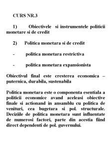 Strategii și Politici Monetare - Pagina 1
