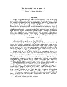 Doctrine și Instituții Politice - Pagina 1