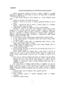 Recrutare si Selectie Personal in Institutii Publice - Pagina 5