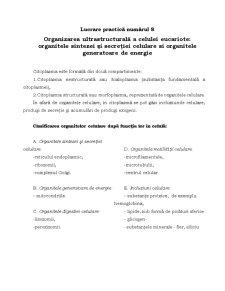 Organite Celulare - Pagina 1