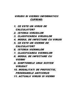 Prezentarea Viermilor si Virusilor de Calculator - Pagina 2