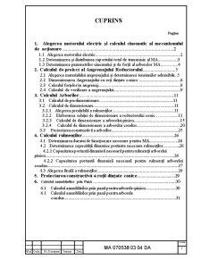 Calculul de Proiect al Reductorului Conic - Pagina 1
