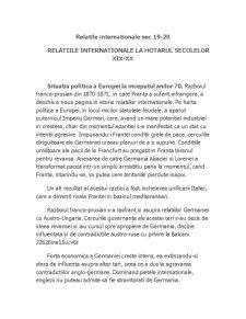 Relatii Internationale Secolul 19-20 - Pagina 1