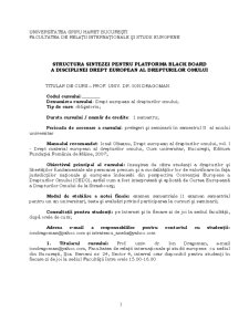 Drept European al Drepturilor Omului - Pagina 1