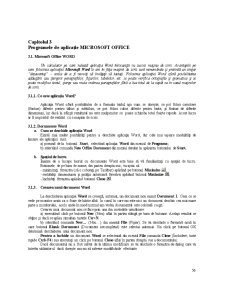 Programele de Aplicație Microsoft Office - Pagina 1