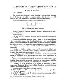Automate Secvențiale și Programabile - Pagina 1
