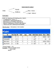 Baze de Date și Programare - Visual Fox Pro - Pagina 1