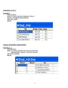Baze de Date și Programare - Visual Fox Pro - Pagina 4