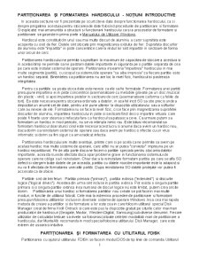 Partitionarea si Formatarea HDD - Pagina 1