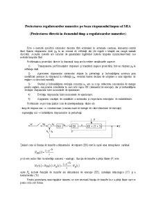 Proiectarea Regulatoarelor Numerice pe Baza Răspunsului Impus al SRA - Pagina 1