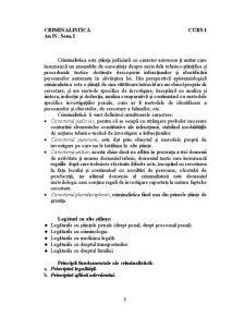 Criminalistică - Pagina 1