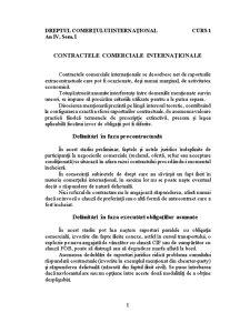 Dreptul Comerțului Internațional - Pagina 1