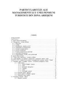 Particularități ale Managementului unei Pensiuni Turistice din Zona Arieșeni - Pagina 2