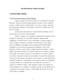 Servicii de Internet Banking în România - Pagina 1