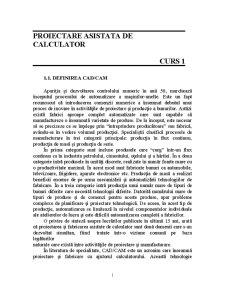 Proiectare Asistata de Calculator - Pagina 1