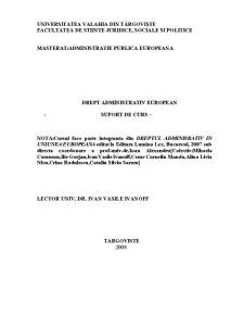 Drept Administrativ European 2008 - Pagina 1