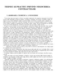 Tehnici și Practici Privind Negocierea Contractelor - Pagina 1