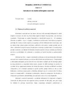 Introducere în Studiul Arbitrajului Comercial - Pagina 1
