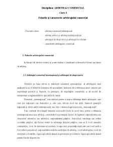 Felurile și Caracterele Arbitrajului Comercial - Pagina 1