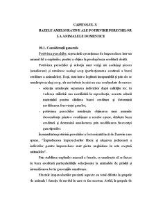 Bazele Ameliorative ale Potrivirii Perechilor la Animalele Domestice - Pagina 1
