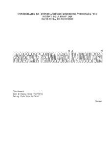 Proiectare Tehnologica in Avicultura - Pagina 1